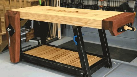 Steel And Wood Work Bench