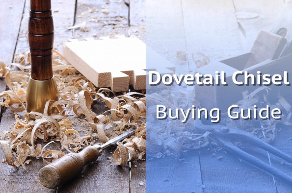 Chisel Next To Hand Cut Dovetails