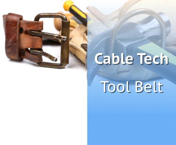 Leather Tool Belt Full Of Tools